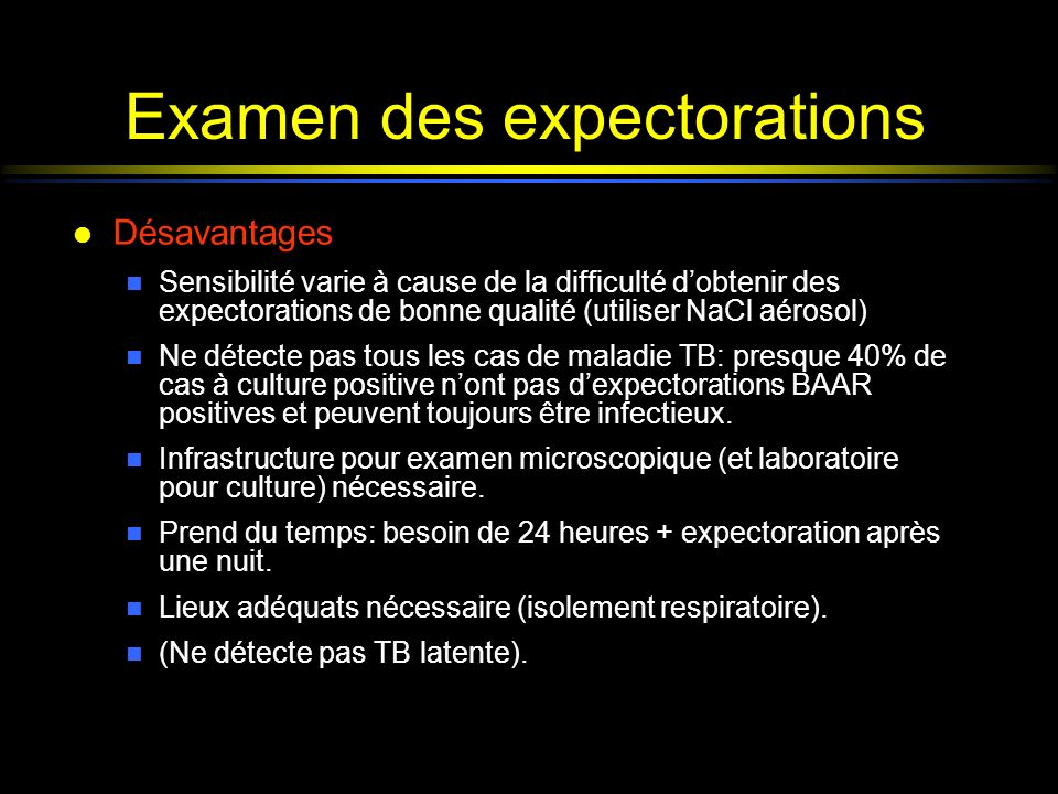 Examen des expectorations