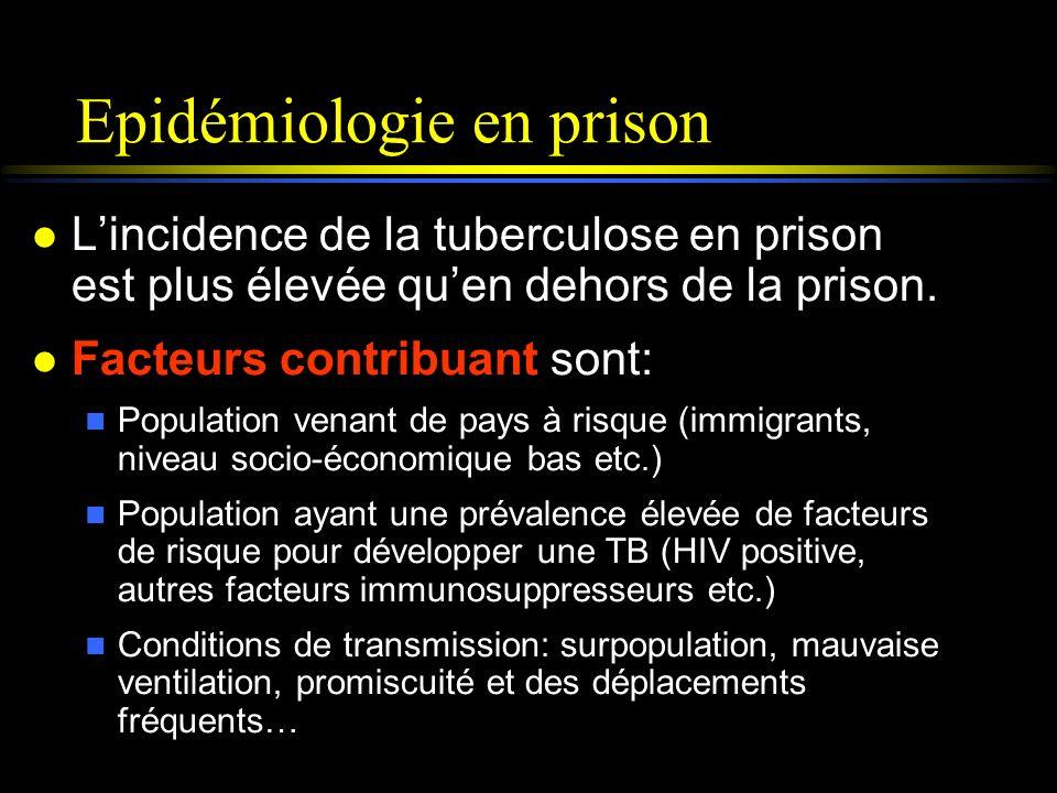 Epidémiologie en prison