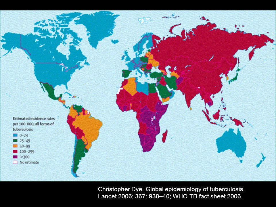 Christopher Dye. Global epidemiology of tuberculosis