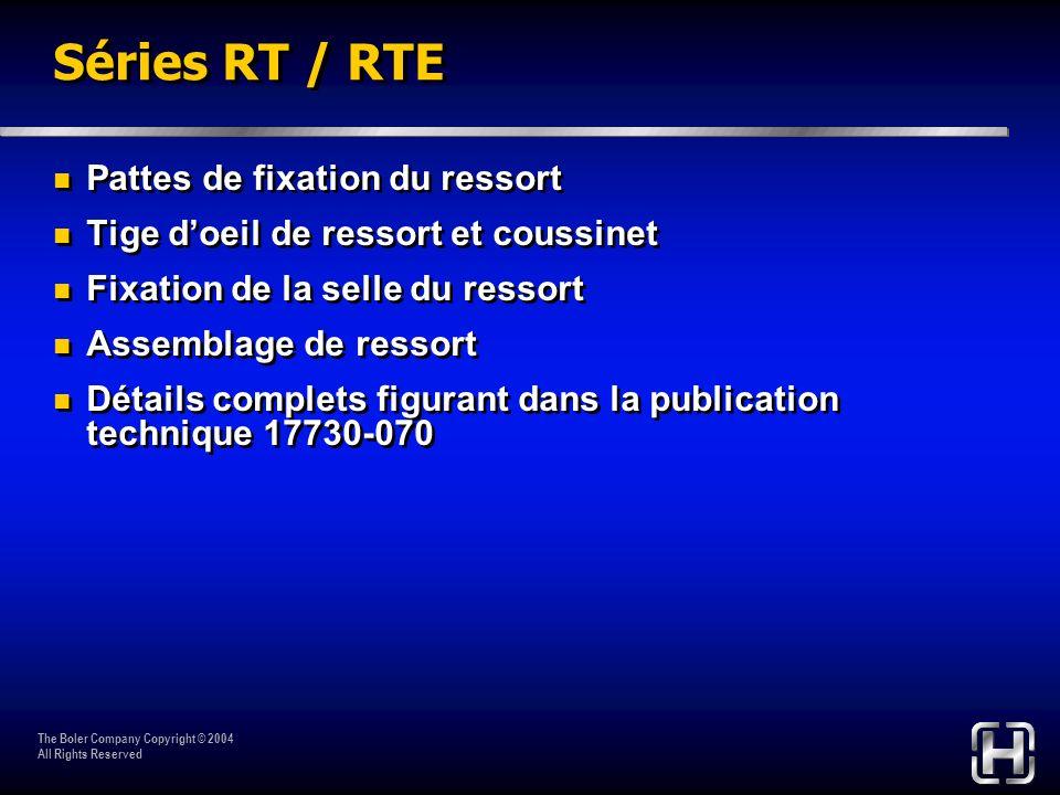 Séries RT / RTE Pattes de fixation du ressort