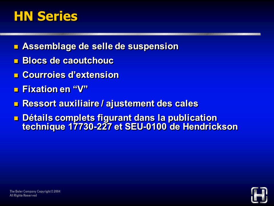 HN Series Assemblage de selle de suspension Blocs de caoutchouc
