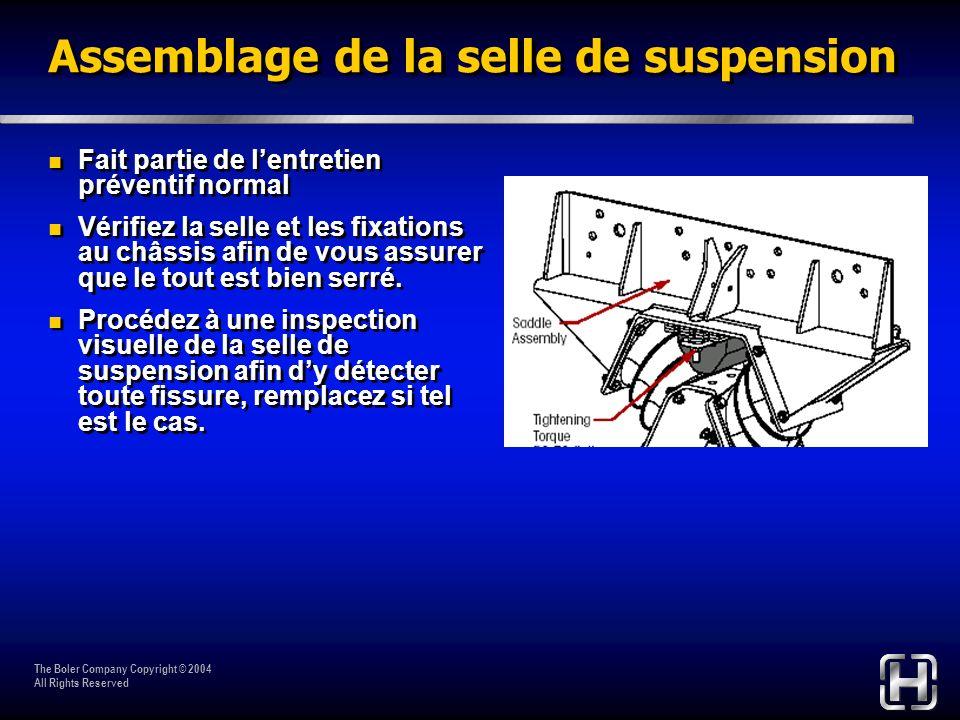 Assemblage de la selle de suspension