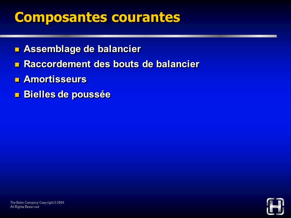 Composantes courantes