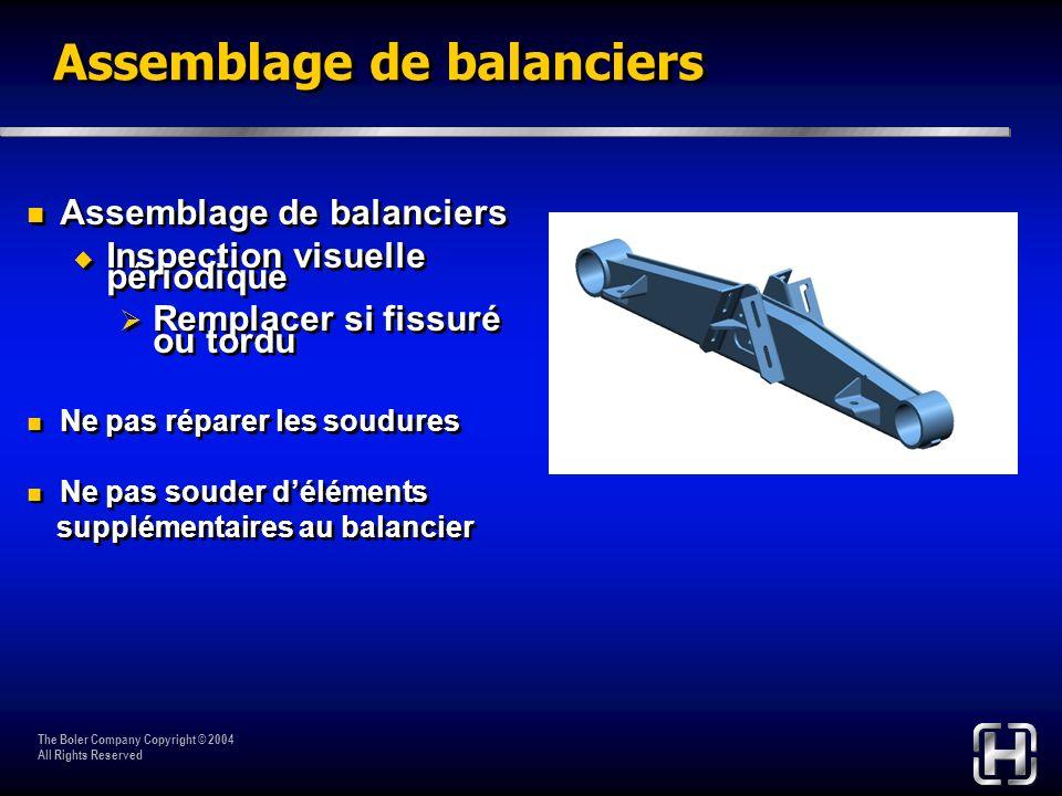 Assemblage de balanciers