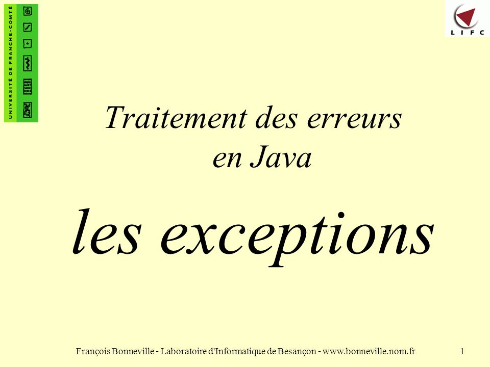 Traitement des erreurs en Java