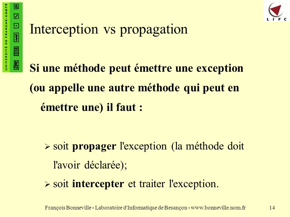 Interception vs propagation