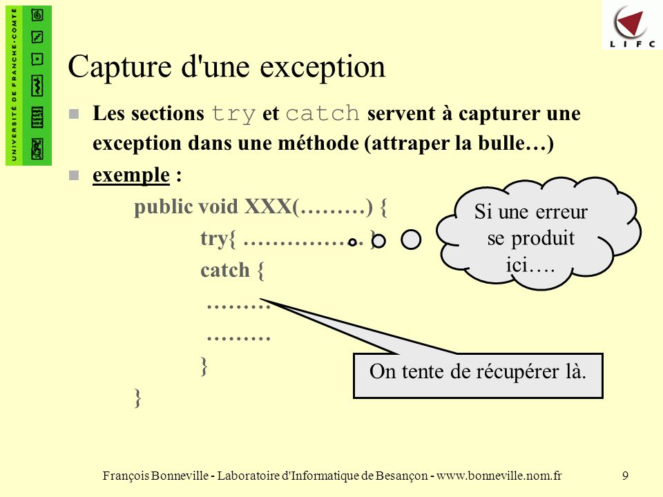 Capture d une exception