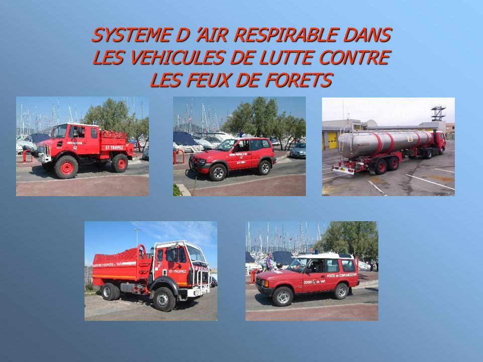 SYSTEME D 'AIR RESPIRABLE DANS LES VEHICULES DE LUTTE CONTRE LES FEUX DE FORETS