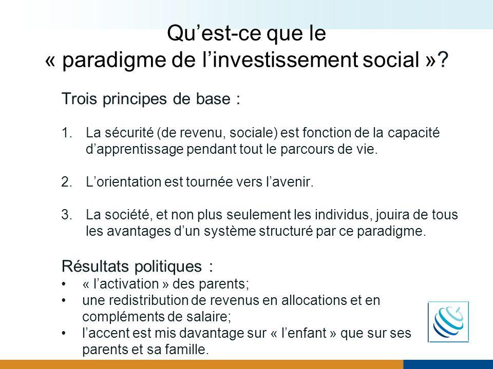 Qu'est-ce que le « paradigme de l'investissement social »
