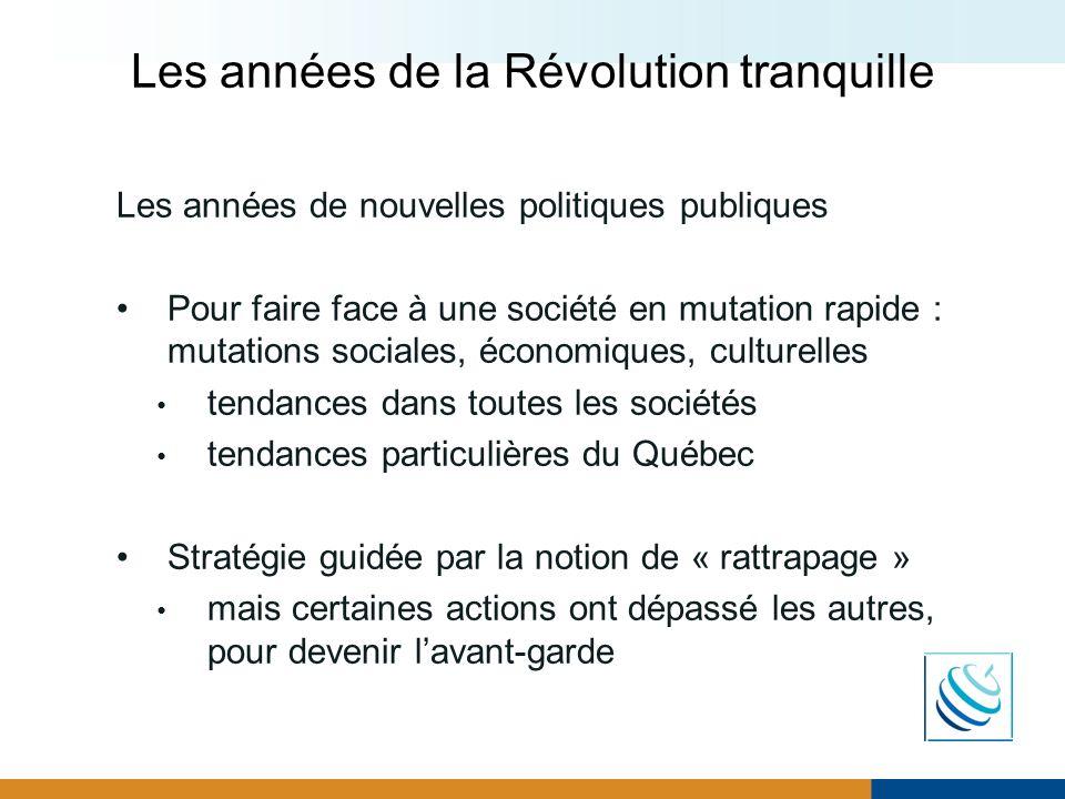Les années de la Révolution tranquille