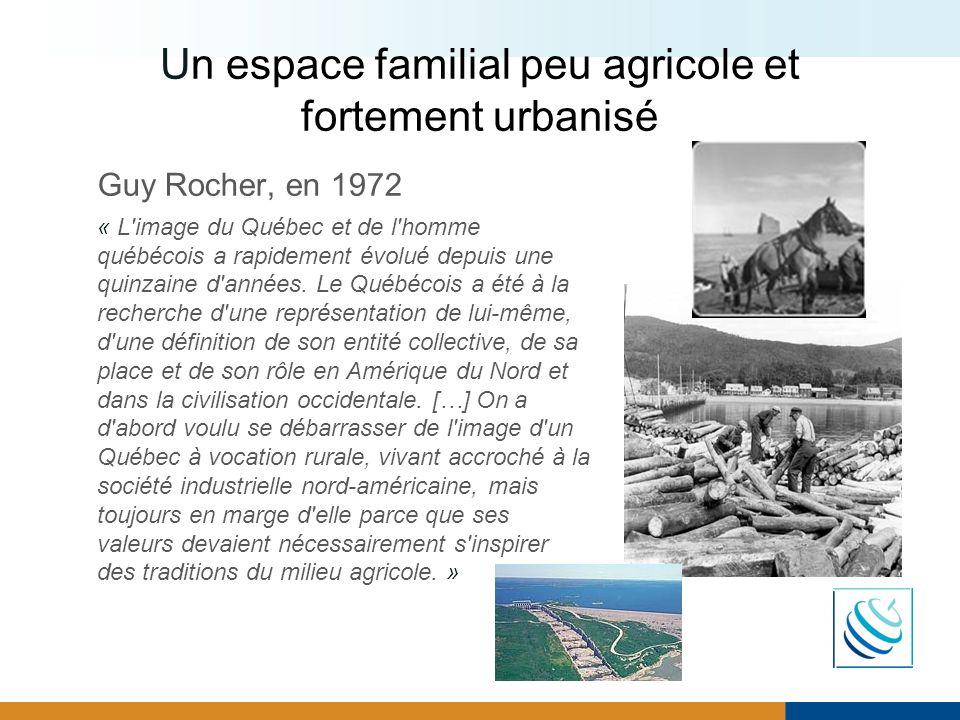 Un espace familial peu agricole et fortement urbanisé