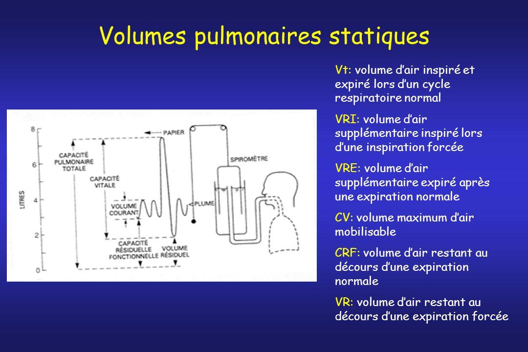Volumes pulmonaires statiques