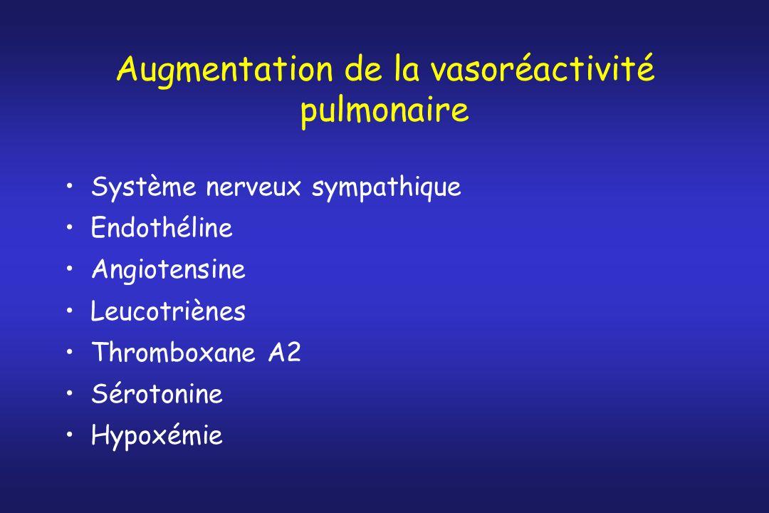Augmentation de la vasoréactivité pulmonaire