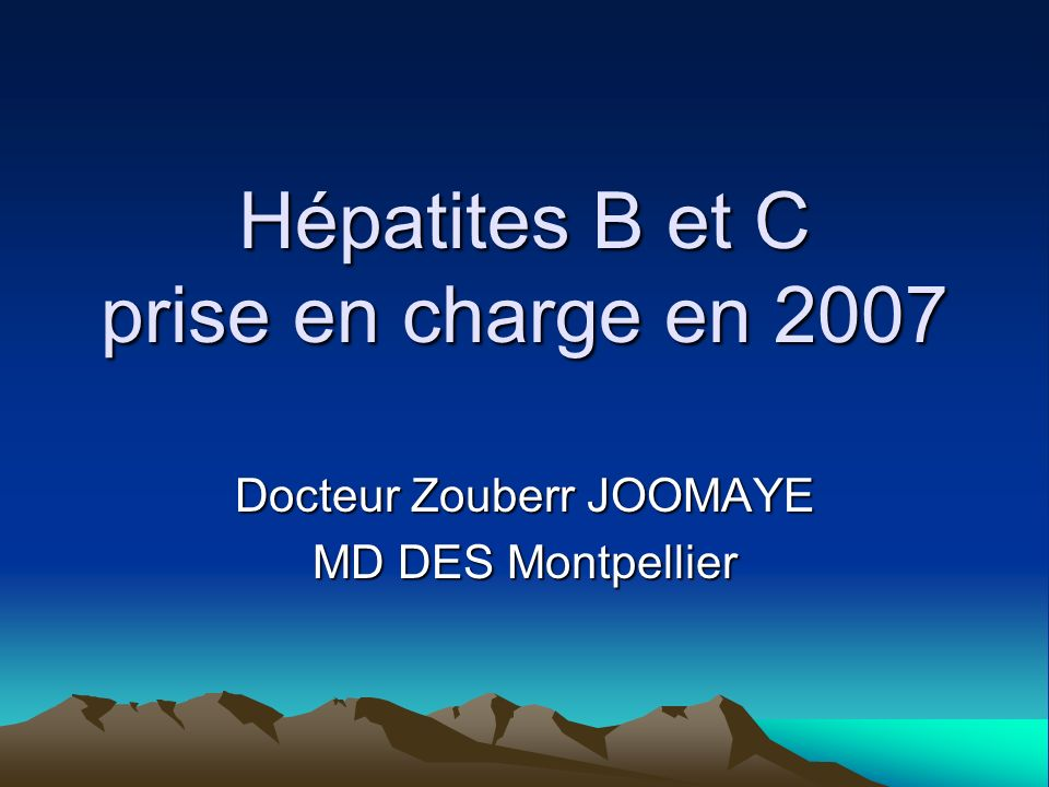 Hépatites B et C prise en charge en 2007