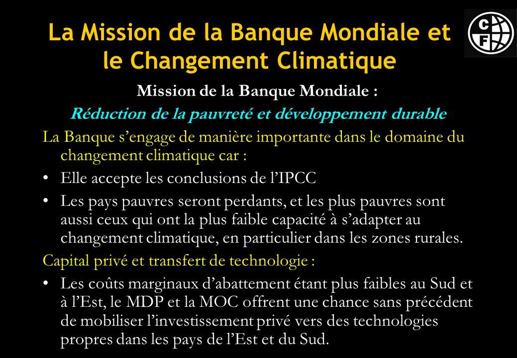 La Mission de la Banque Mondiale et le Changement Climatique