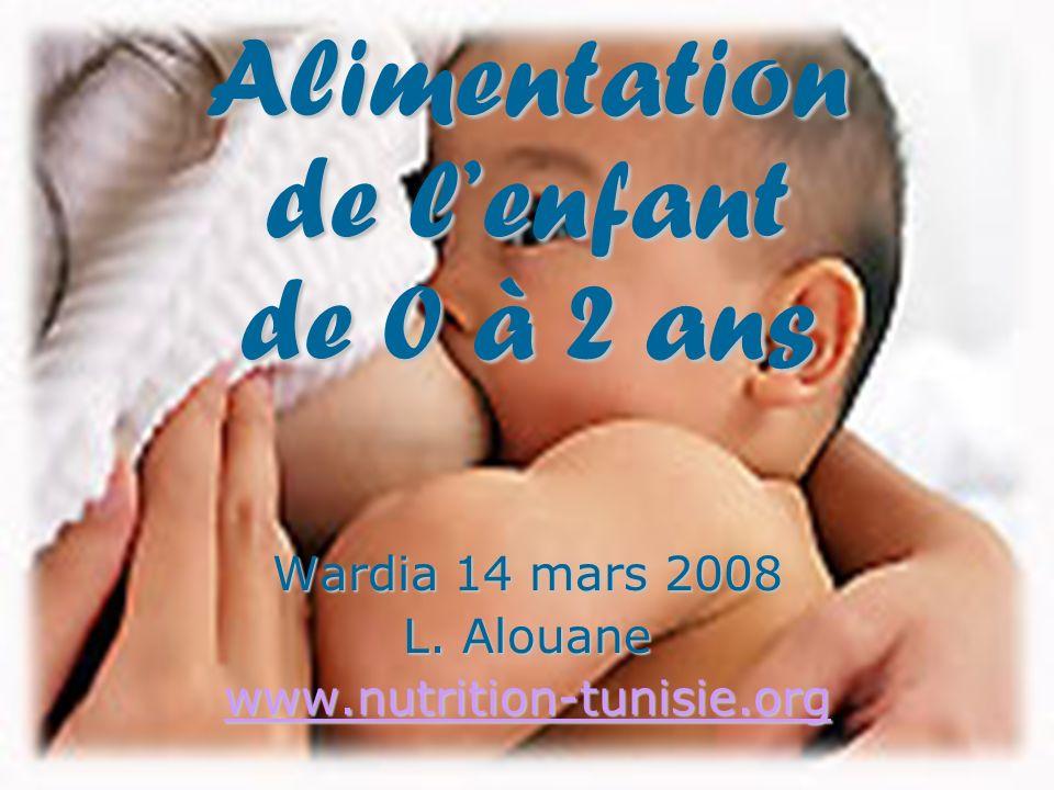 Alimentation de l'enfant de 0 à 2 ans