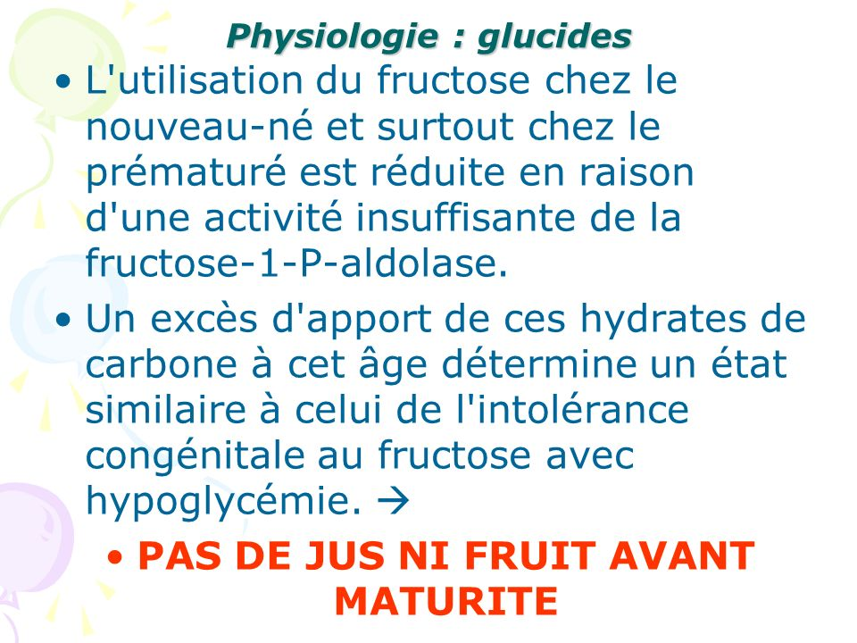 Physiologie : glucides