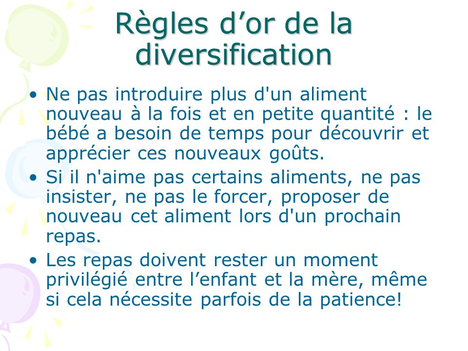 Règles d'or de la diversification