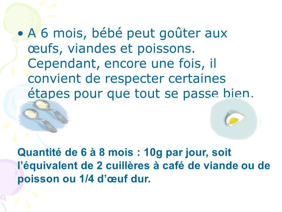 A 6 mois, bébé peut goûter aux œufs, viandes et poissons