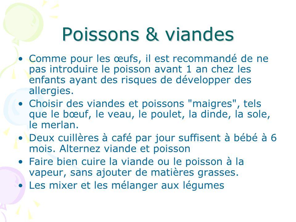 Poissons & viandes
