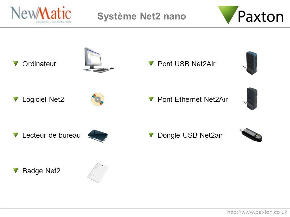 Système Net2 nano Ordinateur Logiciel Net2 Lecteur de bureau