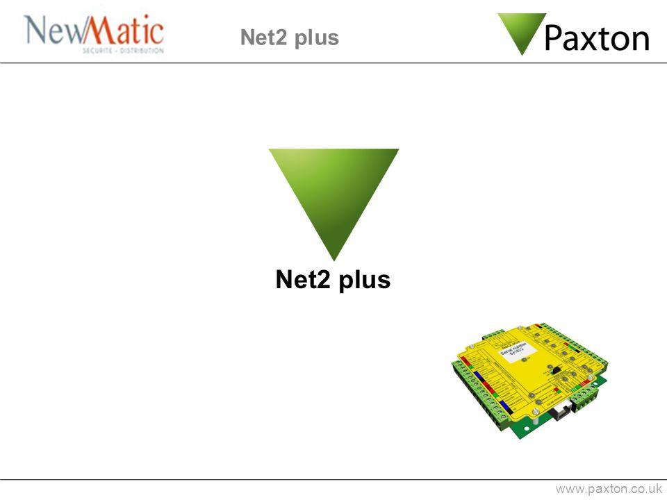 Net2 plus Net2 plus www.paxton.co.uk 1 min 0:53