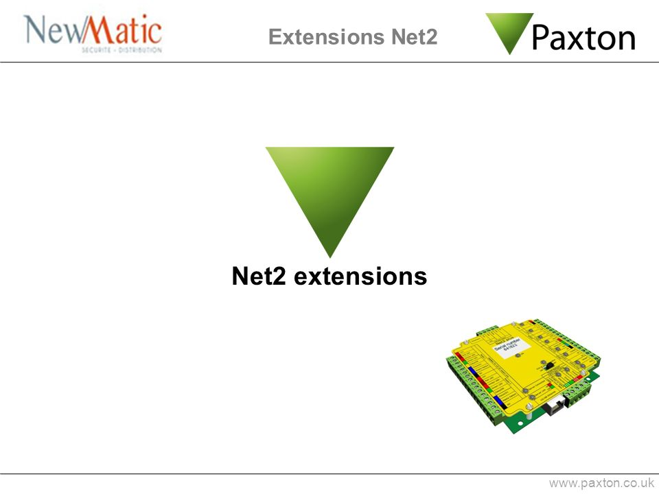 Extensions Net2 Net2 extensions www.paxton.co.uk