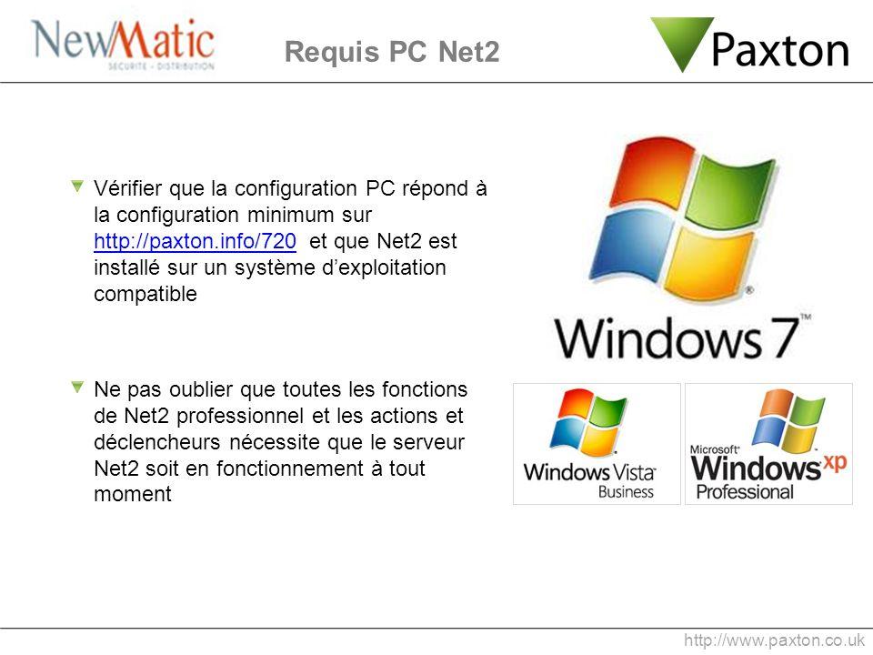 Requis PC Net2