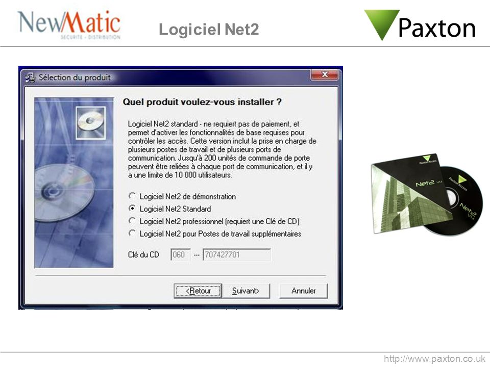 Logiciel Net2 http://www.paxton.co.uk 5 min 0:20