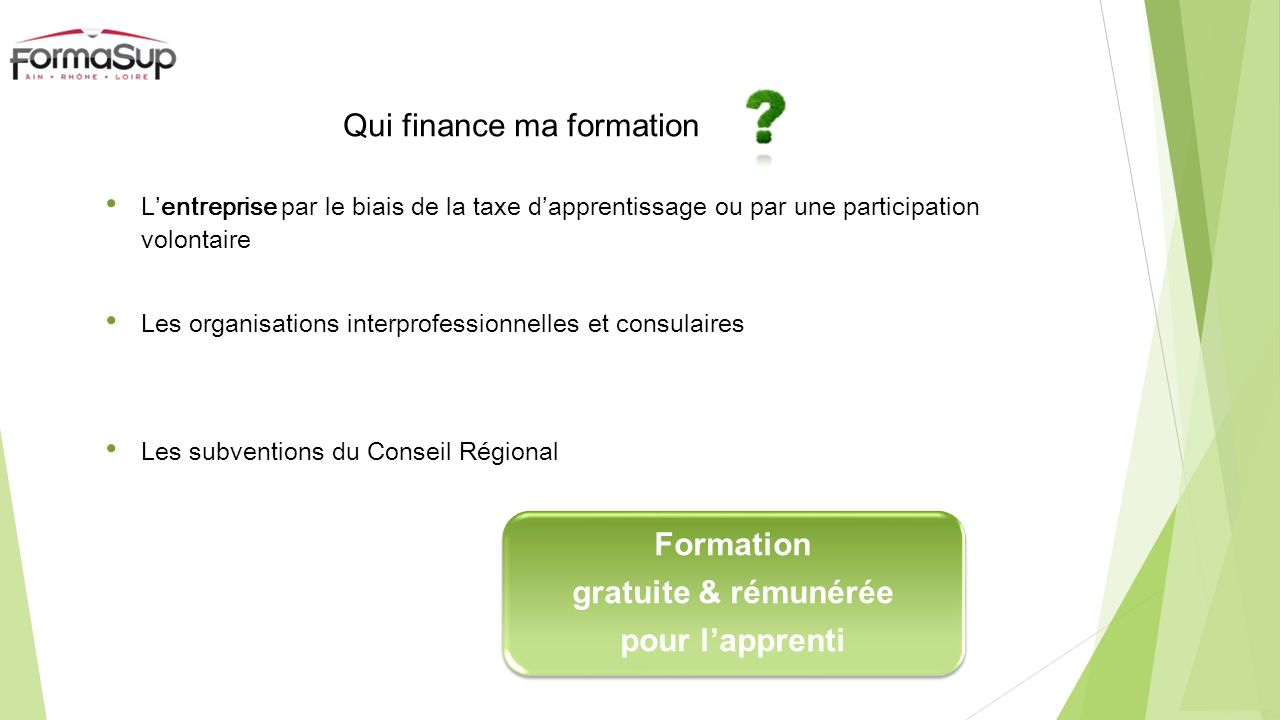Qui finance ma formation