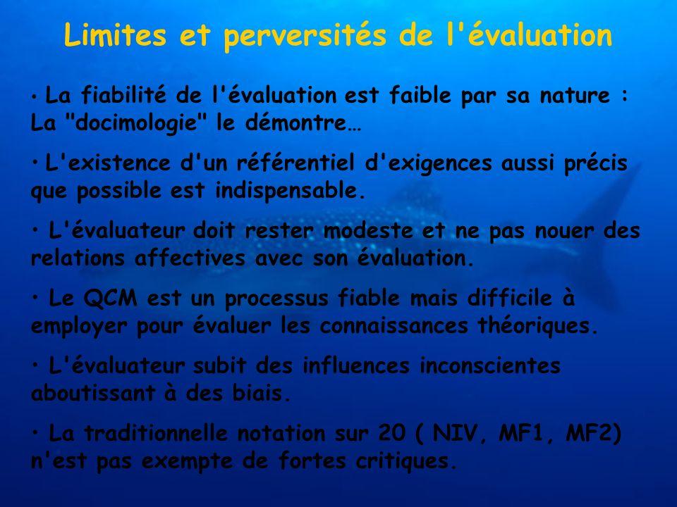 Limites et perversités de l évaluation