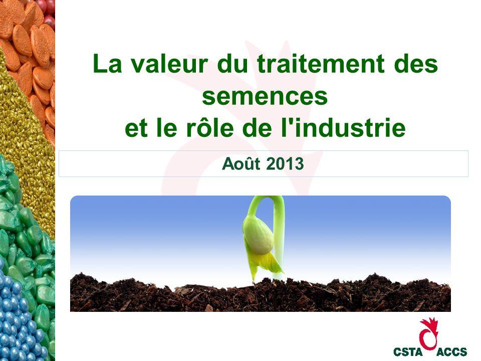 La valeur du traitement des semences et le rôle de l industrie