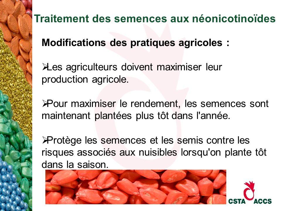 Traitement des semences aux néonicotinoïdes