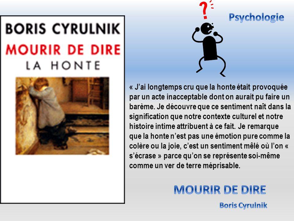 MOURIR DE DIRE Psychologie