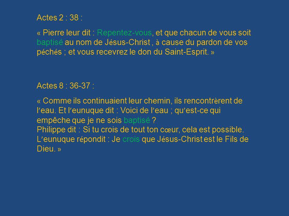 Actes 2 : 38 :