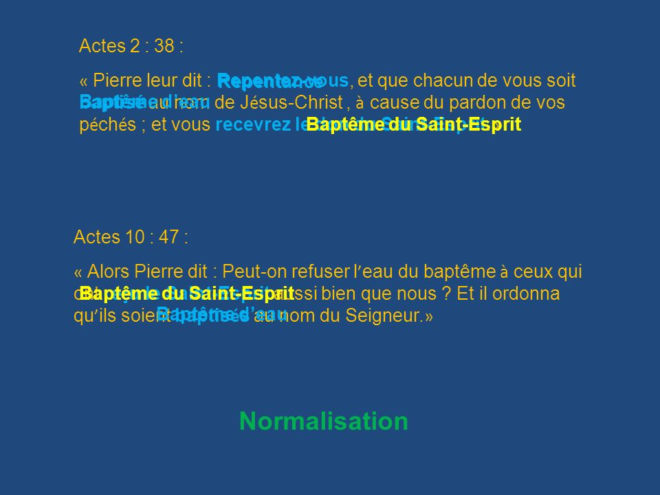 Normalisation Actes 2 : 38 :