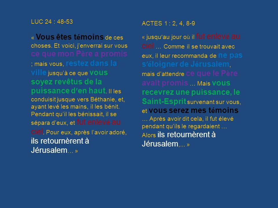 LUC 24 : 48-53