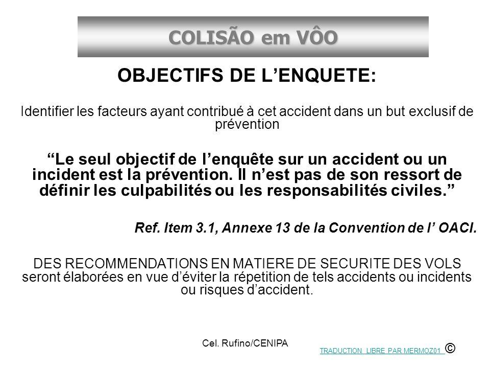 OBJECTIFS DE L'ENQUETE: