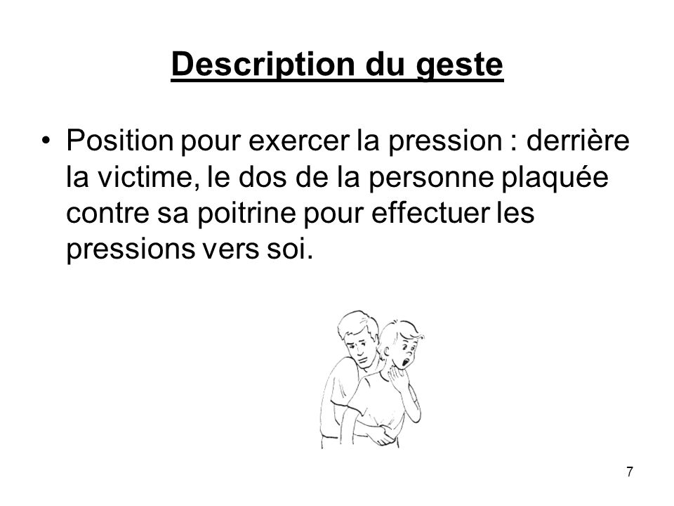 Description du geste
