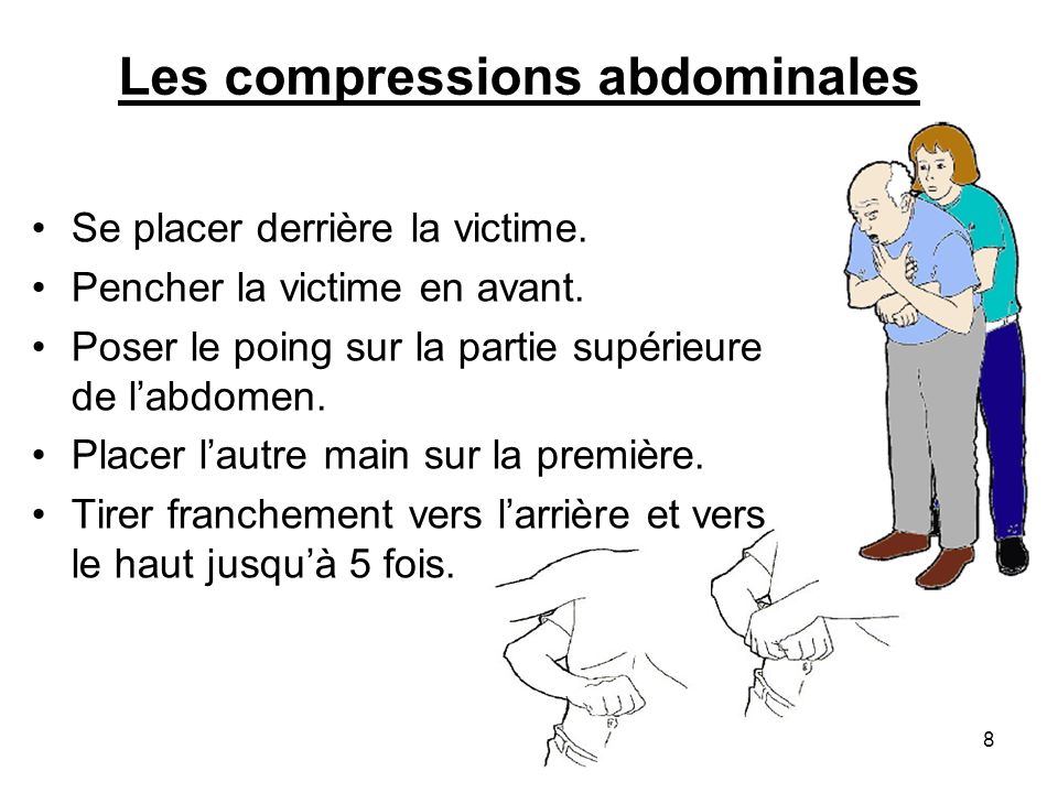 Les compressions abdominales