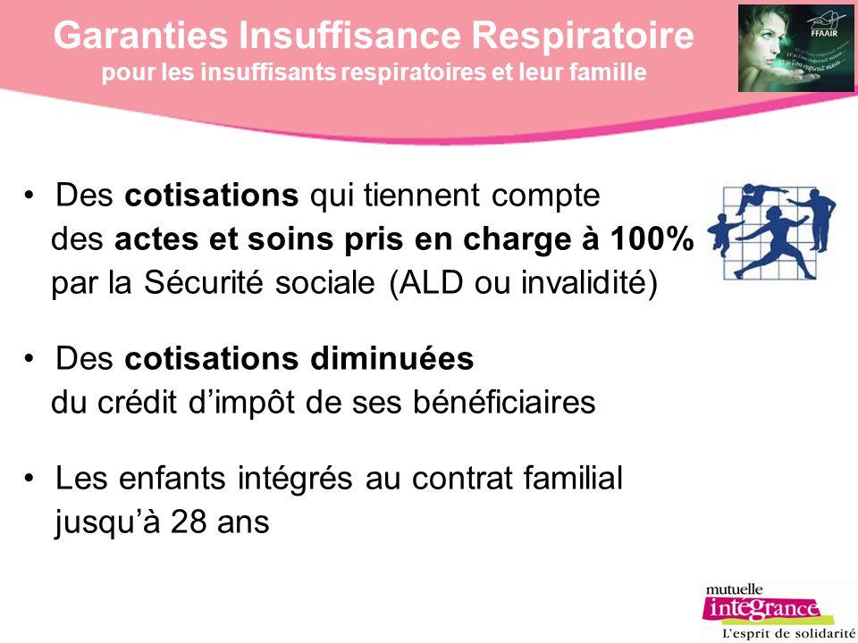 Garanties Insuffisance Respiratoire pour les insuffisants respiratoires et leur famille