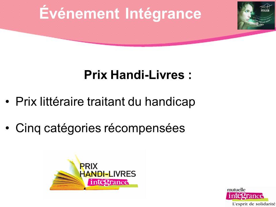 Événement Intégrance Prix Handi-Livres :