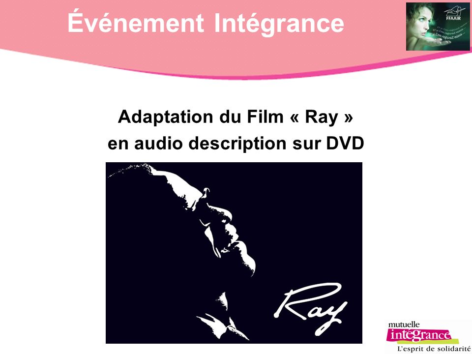 Adaptation du Film « Ray » en audio description sur DVD