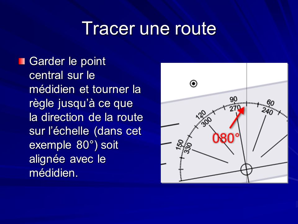 Tracer une route