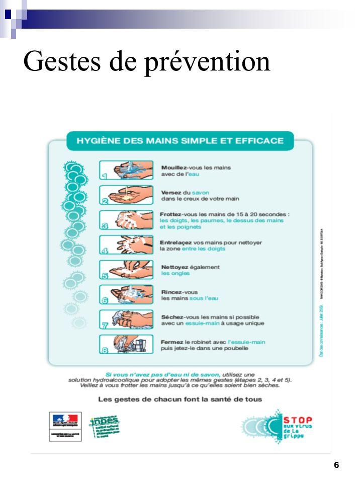 Gestes de prévention