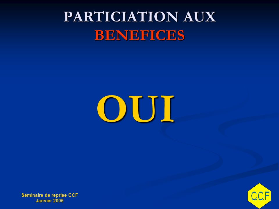 PARTICIATION AUX BENEFICES