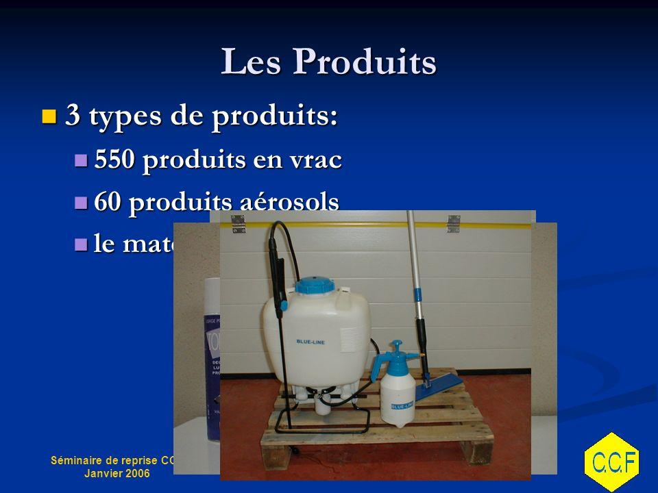 Les Produits 3 types de produits: 550 produits en vrac