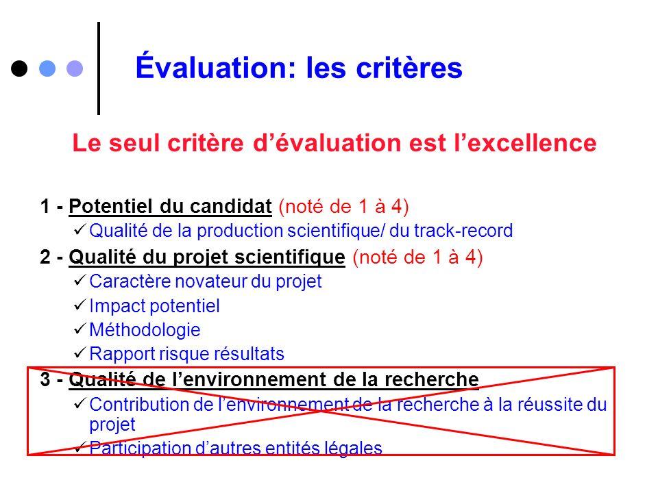 Évaluation: les critères