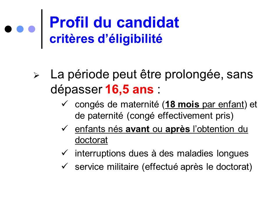 Profil du candidat critères d'éligibilité