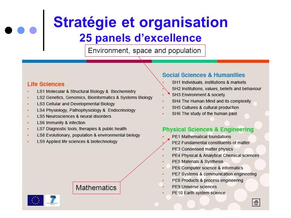 Stratégie et organisation 25 panels d'excellence